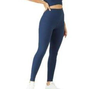 Glyder Charge Ribbed Leggings Blue Small